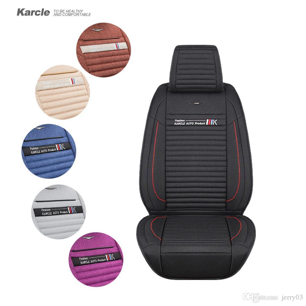 Karcle Universal Car Seat Cover For Winter Healthy Warm Linen Driver Cushion Protector Styling Auto Accessories Infant Carrier