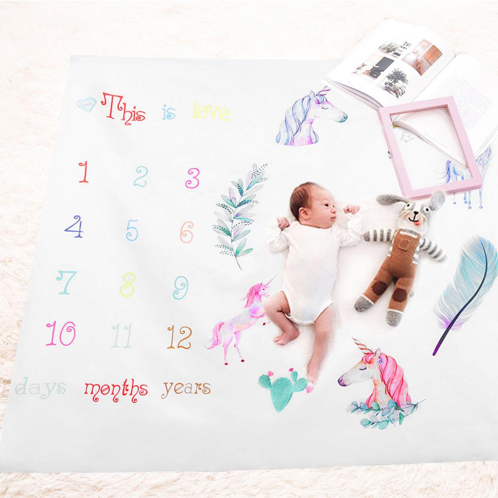 Baby Rugs Unicorn Print Playmats For Girls Boys Fashion Carpet