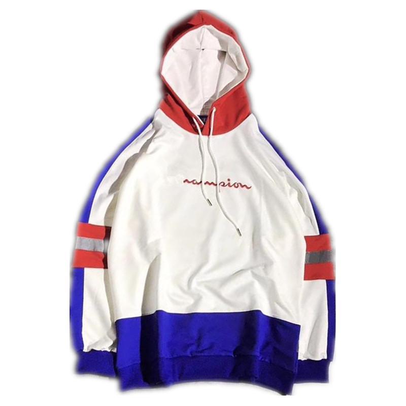 Brand Designer Women Men Luxury Reflective Embroidery Logo Patchwork Hoodie Street Skateboard Sweatshirt Coat Streetwear Hoody Male M XL