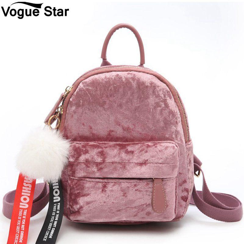 91477c647a Women S Small Backpack Korean 2018 Mini Velvet Backpack Bag Female Cute  Backpacks High Quality Back Pack For Girls Gift M110 Dakine Backpacks Back  Pack From ...
