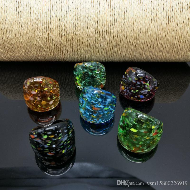 شحن مجاني بالجملة حار 6 قطع بقعة زجاج lampwork حلقة مورانو ، الأزياء حلقة مورانو 17-19 ملليمتر