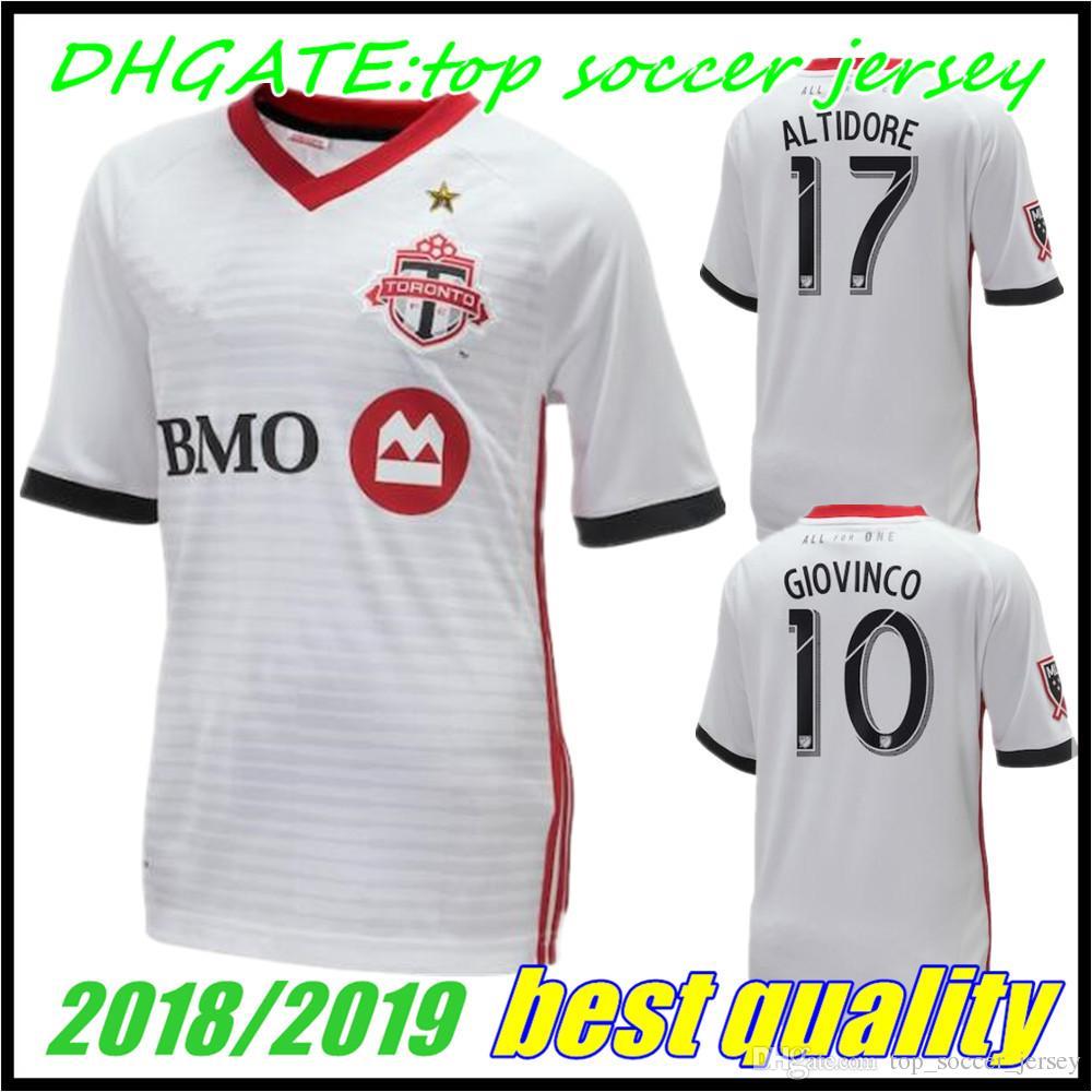 067f227af 2018 2019 Toronto FC Away Soccer Jersey 18 19  10 GIOVINCO  4 ...
