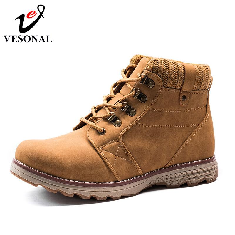 dd16a9bd083 VESONAL Hot Sale 2017 Autumn Winter Ankle Work Casual Male Boots For Men  Shoes Brand Quality Designer Fashion Rubber Man Boot