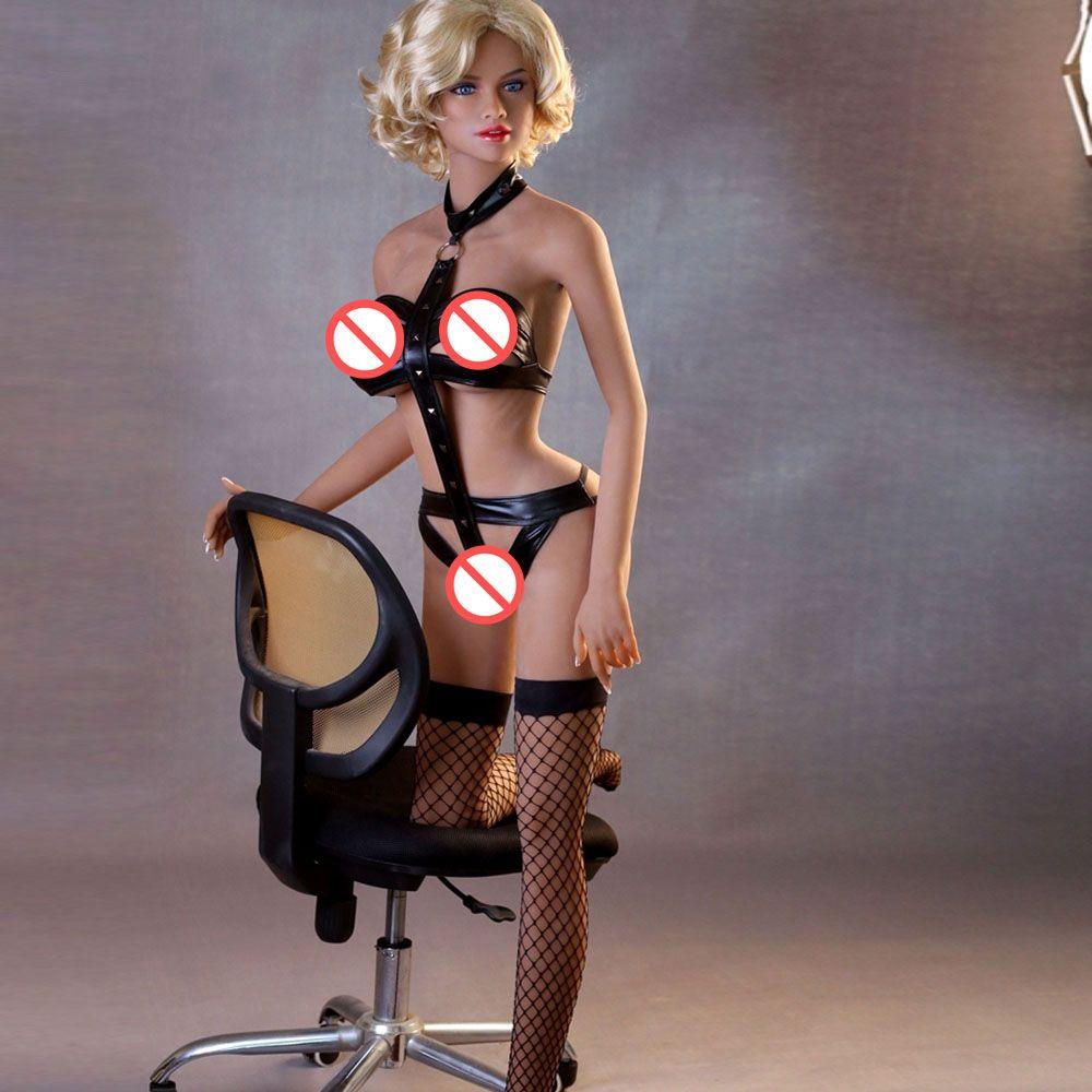 Cool girl Silicone Doll 165cm realista Love Love Men Masturbator Oral vaginal sexo anal 3 agujeros