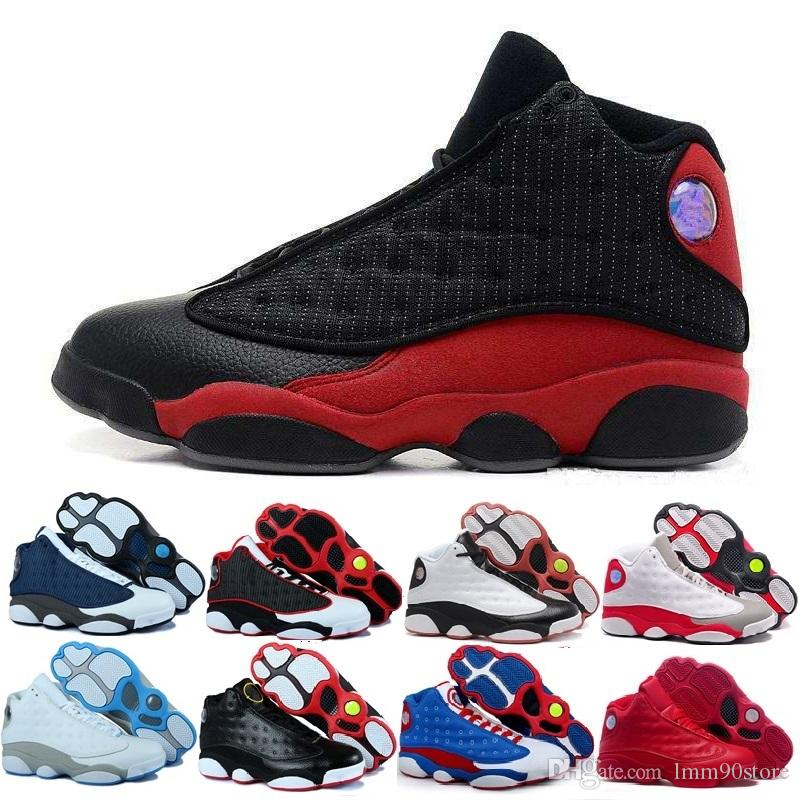on sale 3c341 f6638 Großhandel Nike Air Jordan 13 Aj Schwarze Katze Hyper Royal Olive Weizen Gs  Bordeaux Dmp Chicago Männer Frauen Basketball Schuhe 13s Sport Sneaker  Schuhe ...