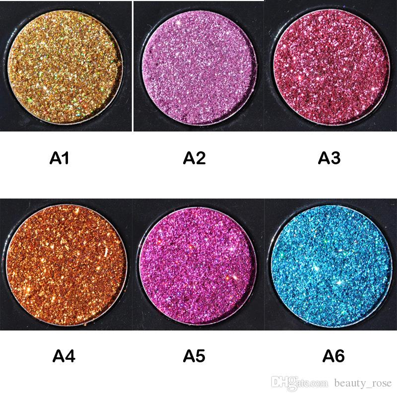 HANDAIYAN Brand Makeup Waterproof Glitter Metallic Shimmer Eyeshadow Palette Shiny Eye Shadow Diamond Pigment Powder DHL Free