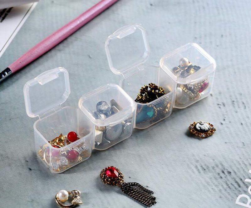 28 Yuvaları Ayarlanabilir Temizle Plastik Saklama Kutusu Kasa Takı Makyaj Boncuk Organizatör Ev Ofis Depolama Için QW7123