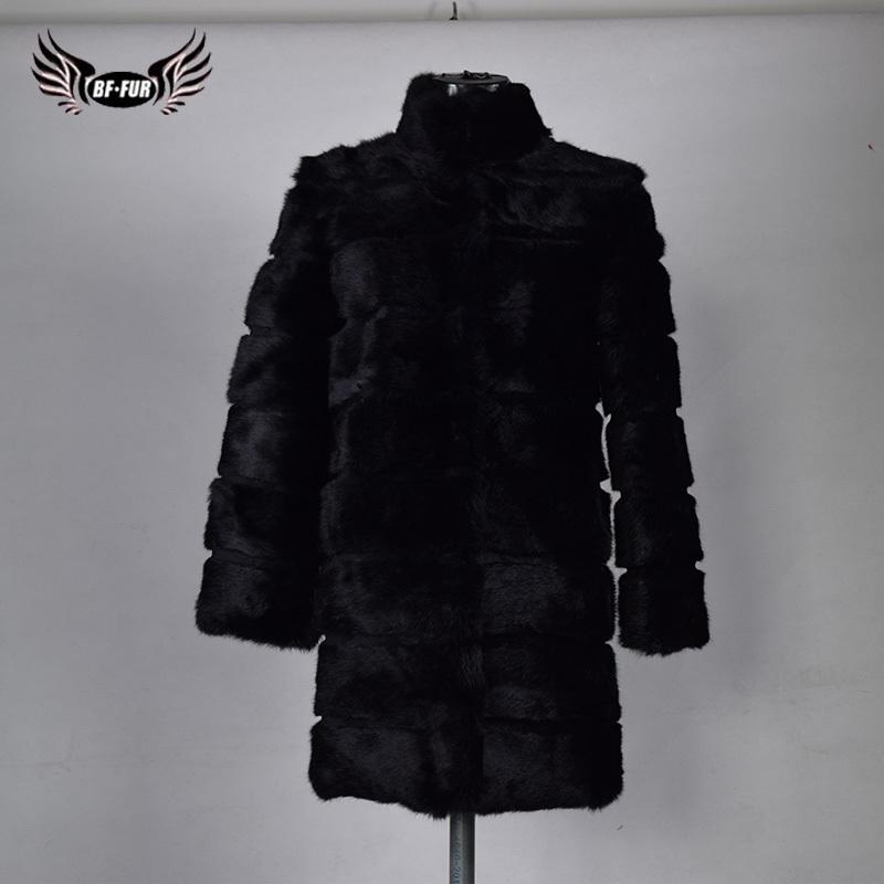 3a5da2f5eef0b ... Coat Rabbit Jacket Fashion Slim Genuine Fur Coat Full Pelt Plus Size  Women Winter Down Coat With Fur Y18110505 Suede Jackets Brown Leather  Bomber Jacket ...