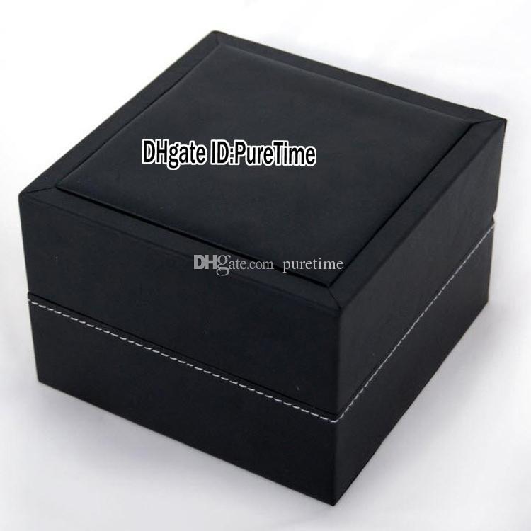 Yükseklik Kalite TagBox Gri Deri İzle Kutusu Toptan Womens Saatler Orjinal Kutusu ile Sertifika Kart Hediye Kağıt Çanta 02 Puretime