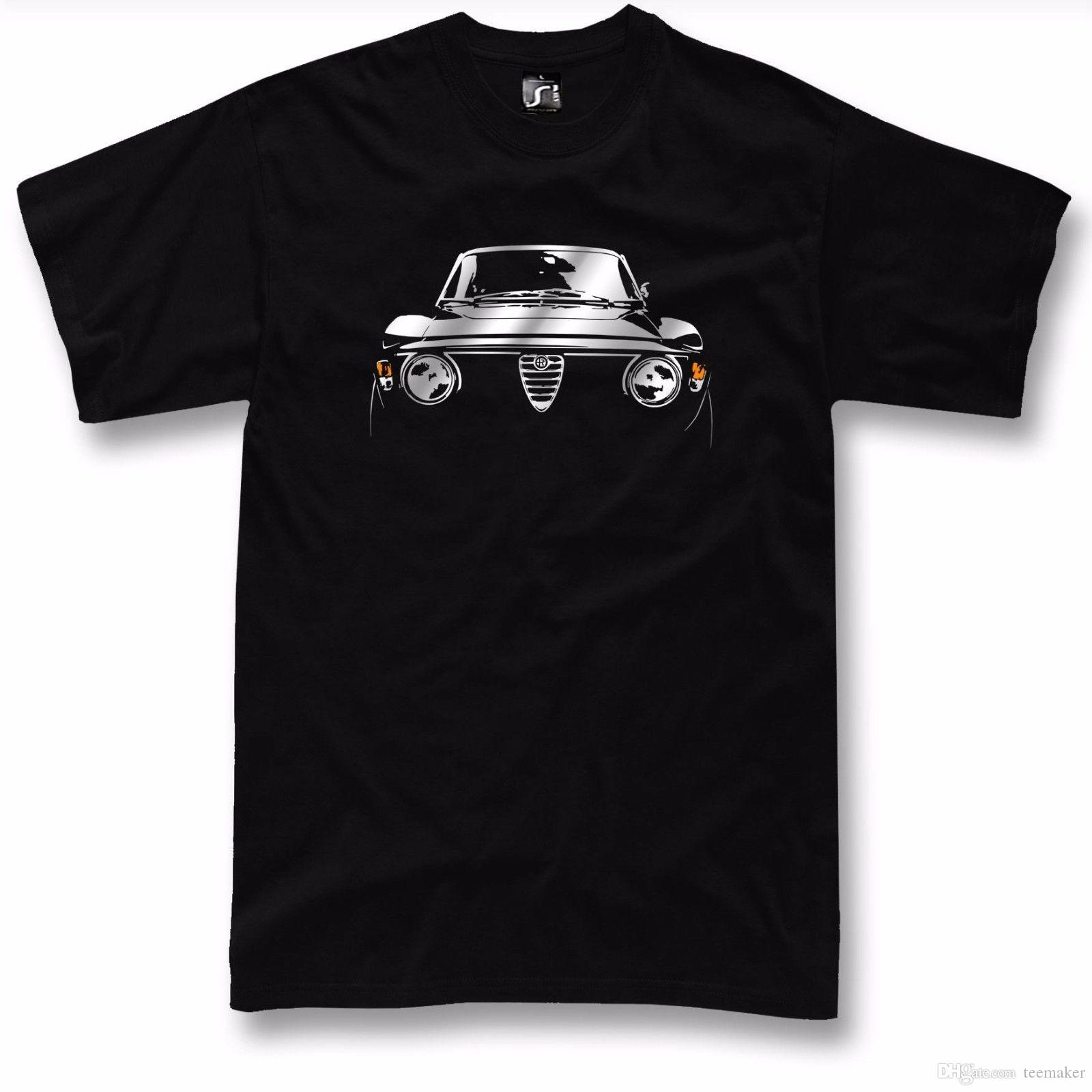 3bf392f2eec Classic Car Tshirt For Alfa Romeo Junior Gt Fans Gta 1750 2000 Veloce T  Shirt O Neck Oversize Style Tee Shirts Styles Family T Shirts Printed Shirt  From ...