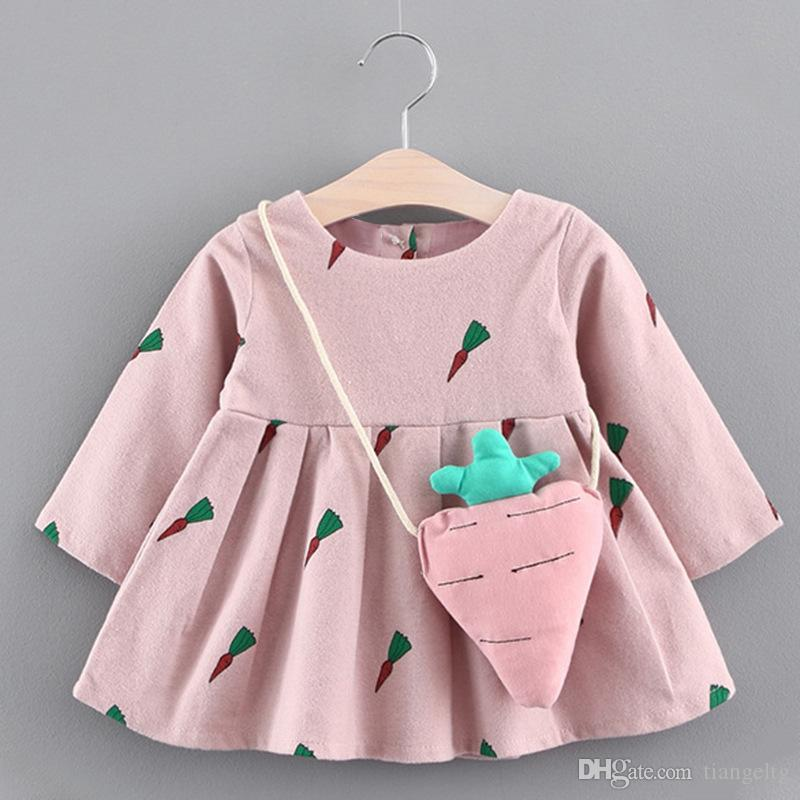 eefa9d227 2019 Bear Leader Baby Girls Winter Dresses Carrot Printed Carrot ...