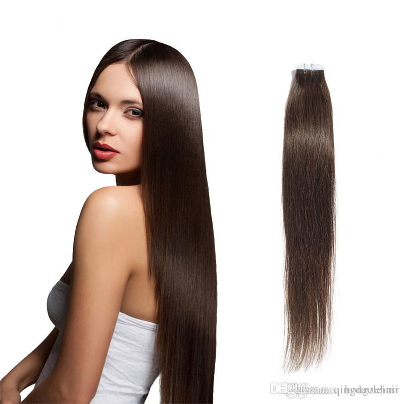 Tape In Hair Extensions 16 26inch Brazilian Remy Human Hair
