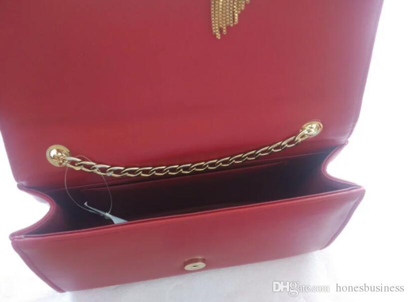 2018 nuovo nome del progettista del cuoio nappa borse a tracolla Y lembo lembo rosso nero blu bianco grigio messaggero borsa pochette delle donne