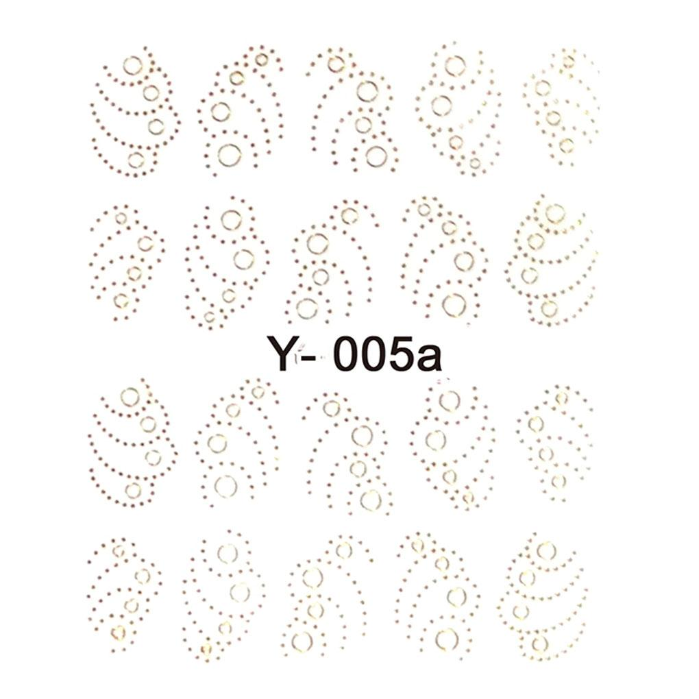 2018 TOP 33 sheet/set Gold Metallic Nail Stickers Butterfly Flower Heart  Leaf Branch Wraps Nail Art Decals Free Shipping