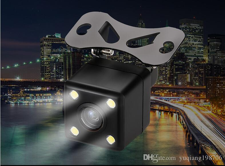 Square Shape DVR Auto Parking Assistance New 4LED Night Vision Car CCD Rear View Camera Car Video Foldable Monitor Camera170 Degree DHL free