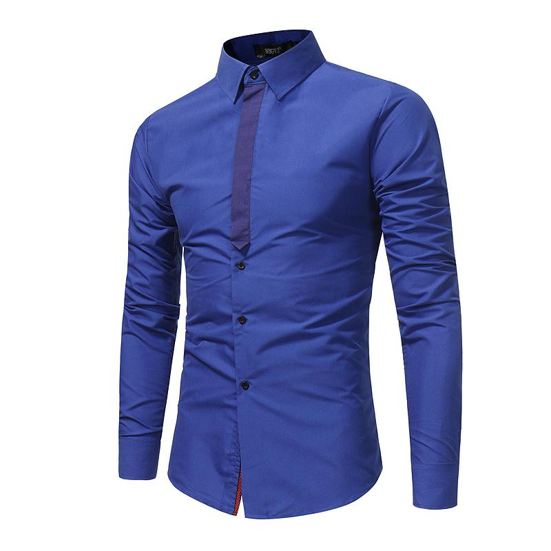 4f9225567177 2019 Men Shirt Luxury Brand 2016 Male Long Sleeve Shirts Casual Mens Simple  Solid Single Breasted Slim Fit Dress Shirts Mens From Bairi, $29.44    DHgate.Com