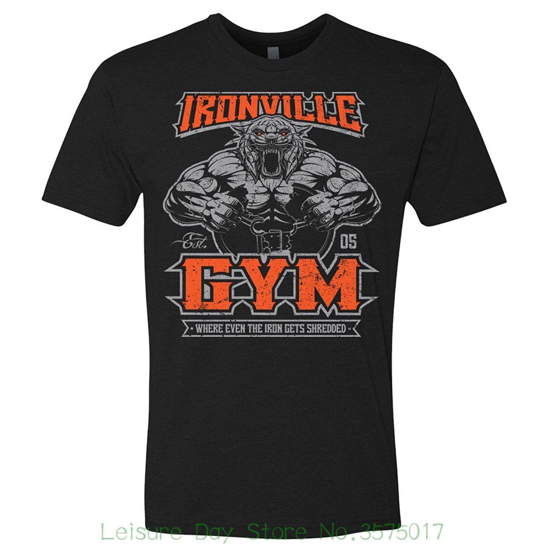 Summer Style Hip Hop Men T Shirt Tops Ironville Gymnasium Shredded
