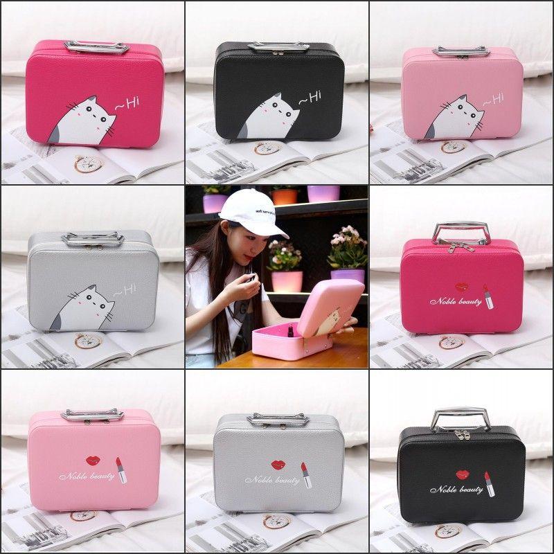 Korean Print Cosmetic Bag Women Travel Big Capacity Waterproof Portable  Organizer Makeup Bag Toiletry Kits Necessity Buy Cosmetics Online Cheap  Beauty ... de2ce739354fb