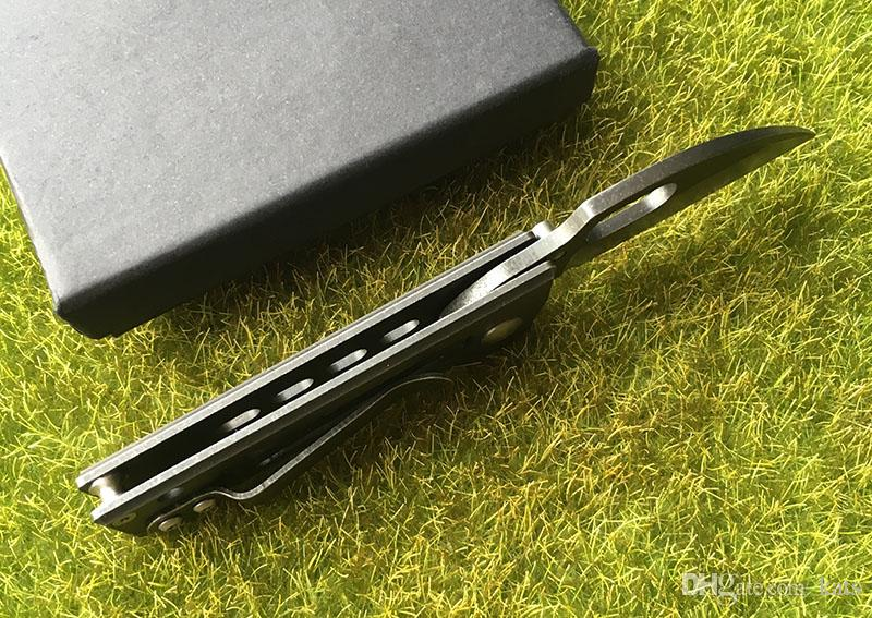 tasca regalo coltello 440C lama in acciaio maniglia a sfere cuscinetto pieghevole coltello pieghevole caccia esterna strumenti EDC