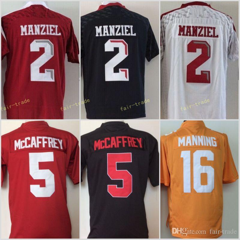 6ac38317f Youth Stanford Cardinals Black 5 Christian McCaffrey Tennessee ...