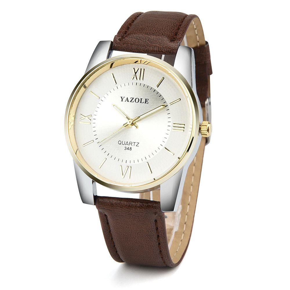 5df70b981 Male Wristwatches Famous Brand YAZOLE Luxury Men's Watch Leather ...