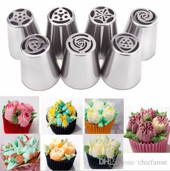 Cupcake Tool a set Food Class Stainless Steel Baking Cake Tips Cake Decorating Tools DIY Biscuits Cake Pastry Nozzles Tips