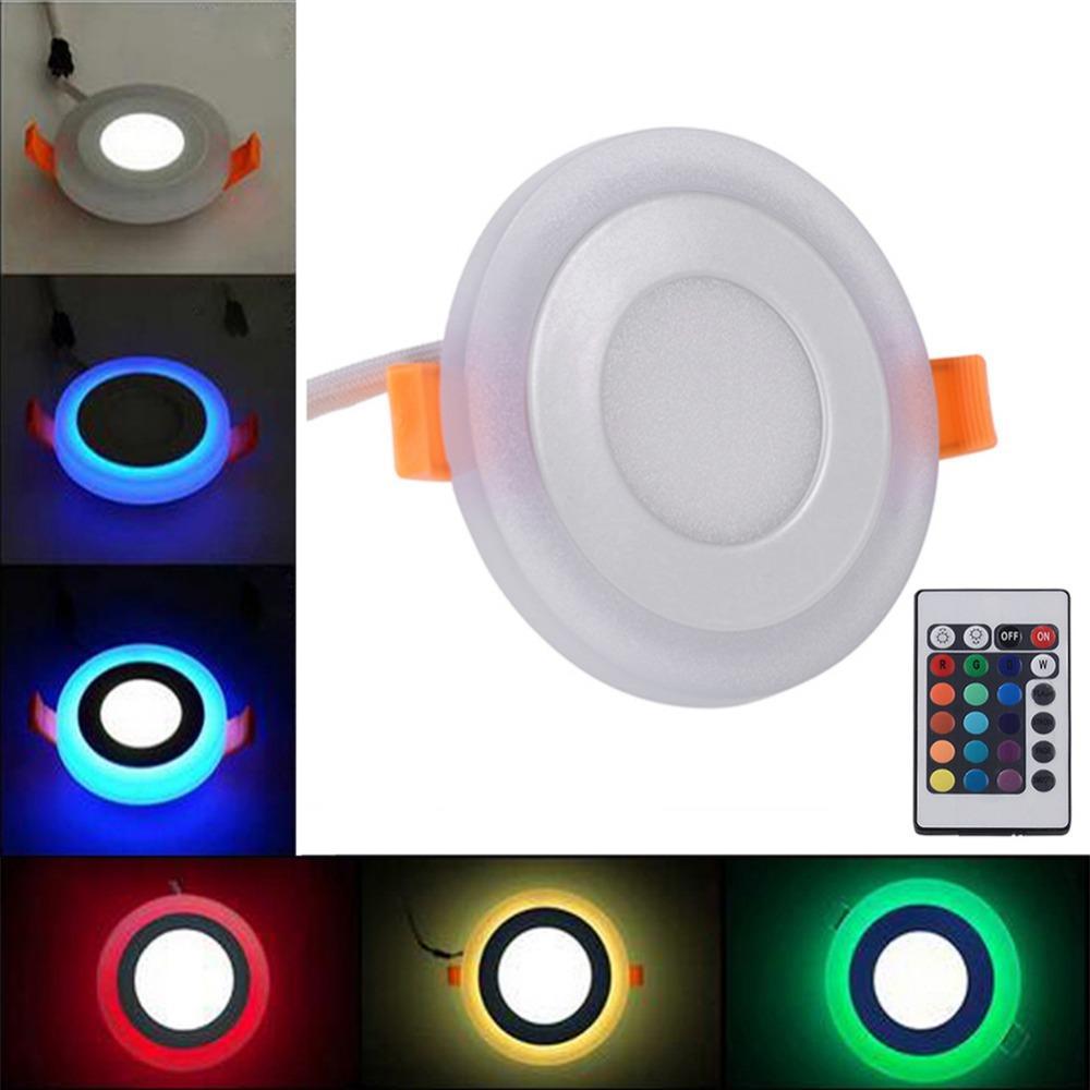 Telecomando 3 modelli RGB bianco pannello led 6w / 9w / 18w / 24W LED ultra sottile da incasso a soffitto a LED Lampada da pannello in acrilico