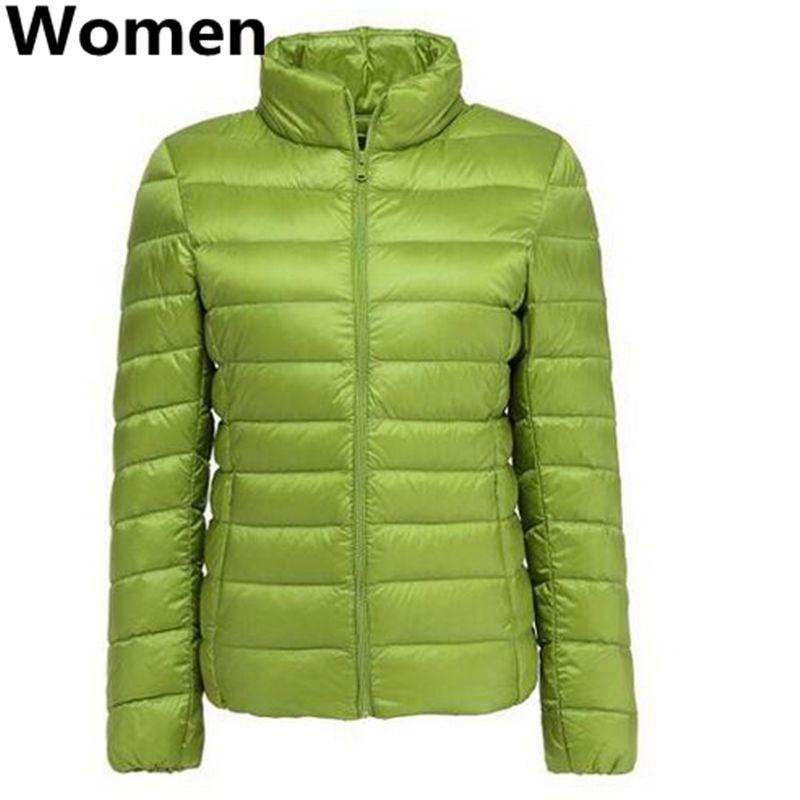 ROM esquerda casais slim fit 90% pato branco para baixo jaqueta / mulheres homens manter quente no inverno Super fino fino slim caber para baixo casaco