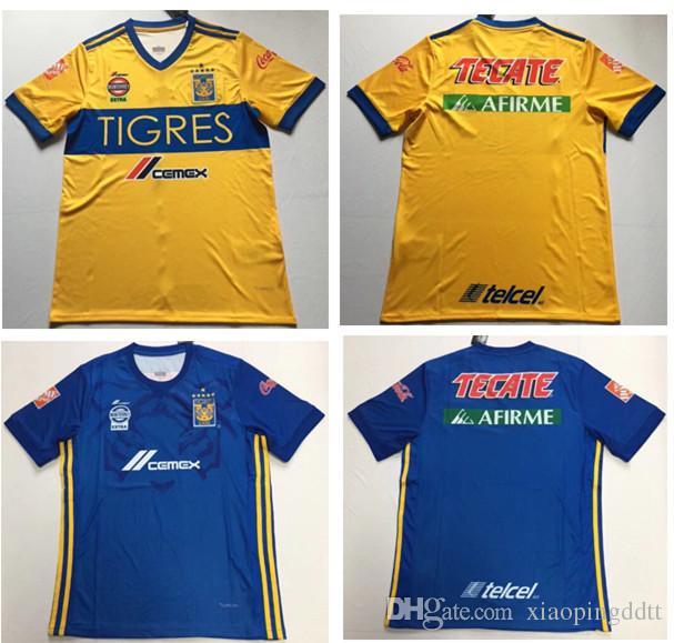 4ca038044 2019 Size S XL Thai Quality 6 STARS 2018 2019 TIGRES UANL Home Soccer Jersey  18 19 Away Sosa Damian Vargas Gignac TIGRES Mexico Football Shirts From ...