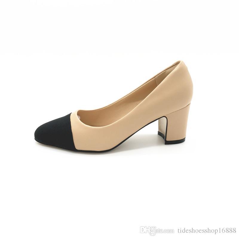 Compre Zapatos De Mujer Escarpins Femme 2018 Talla Grande 43 Zapatos Mujer  Zapatos De Tacón Cuadrado Chaussures Femme Talon Dames Schoenen Vrouw  Zapatos De ... 7a38f368f033