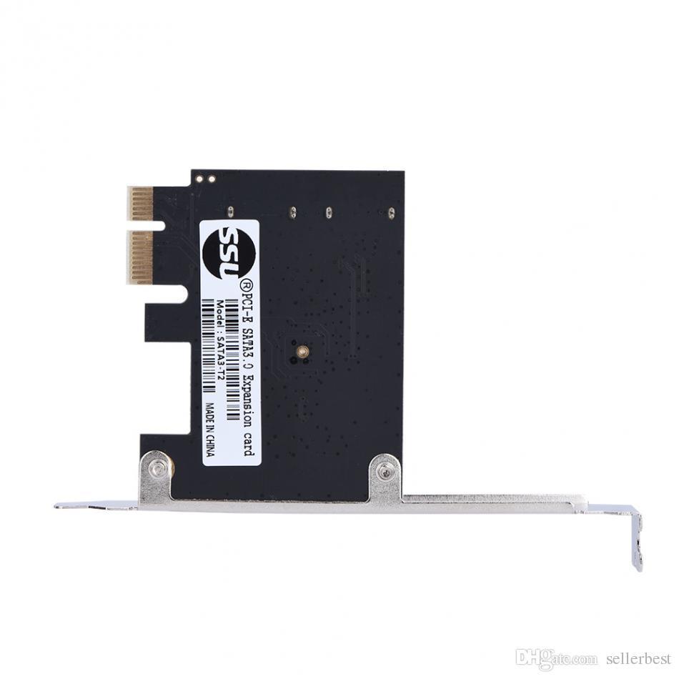 PCI-E PCI Express alla scheda di estensione SATA 3.0 con staffa a 2 porte SATA III 6Gbps Adattatore di ampliamento Schede il telaio computer