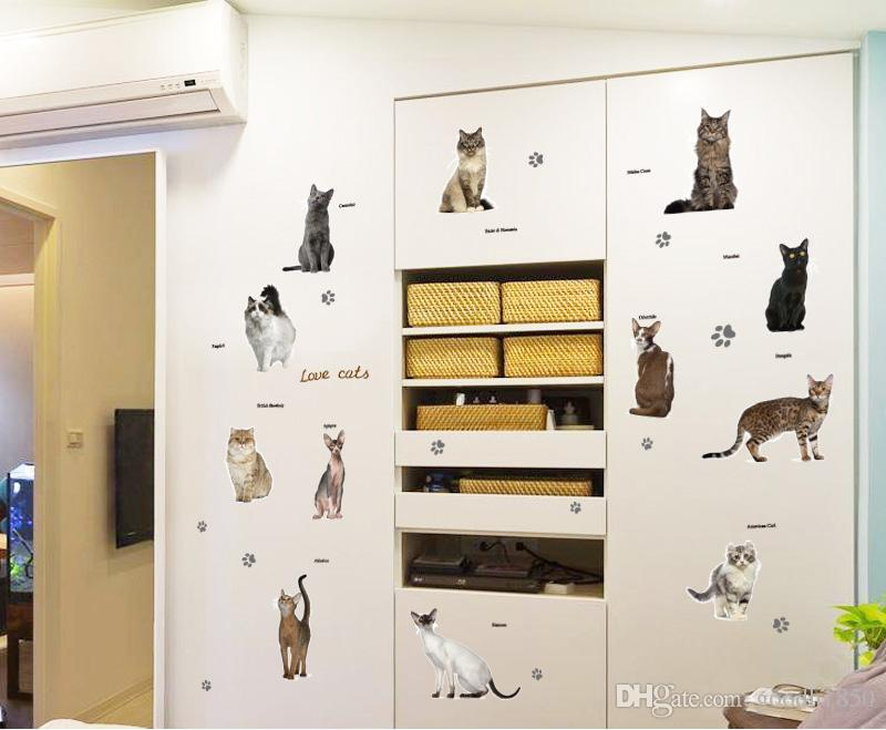 2018 fashion cute DTY home wall stickers,nice pvc materials water proof,no colour fade,Eco-friendly wall stickers