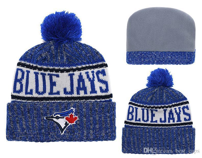 178678700f387 Hot sell winter Beanie Knitted Hats BLUE JAYS beanies hats basketball  baseball football winter beanies hats 1000+