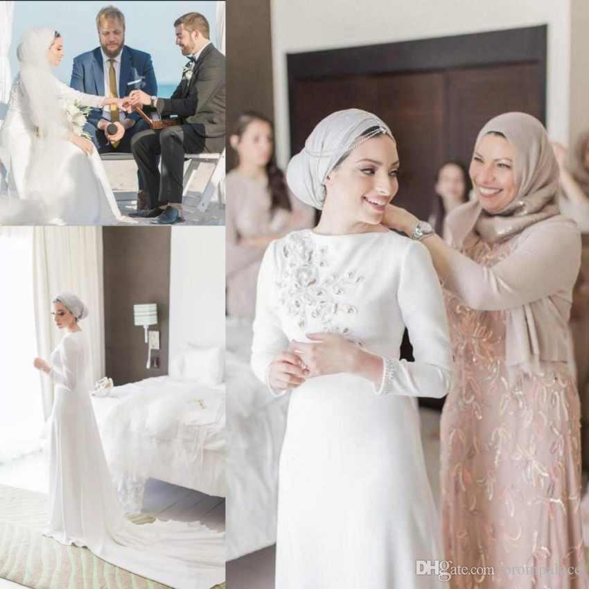 Discount New Fashion Stunning Miami Wedding Dresses Long Sleeve