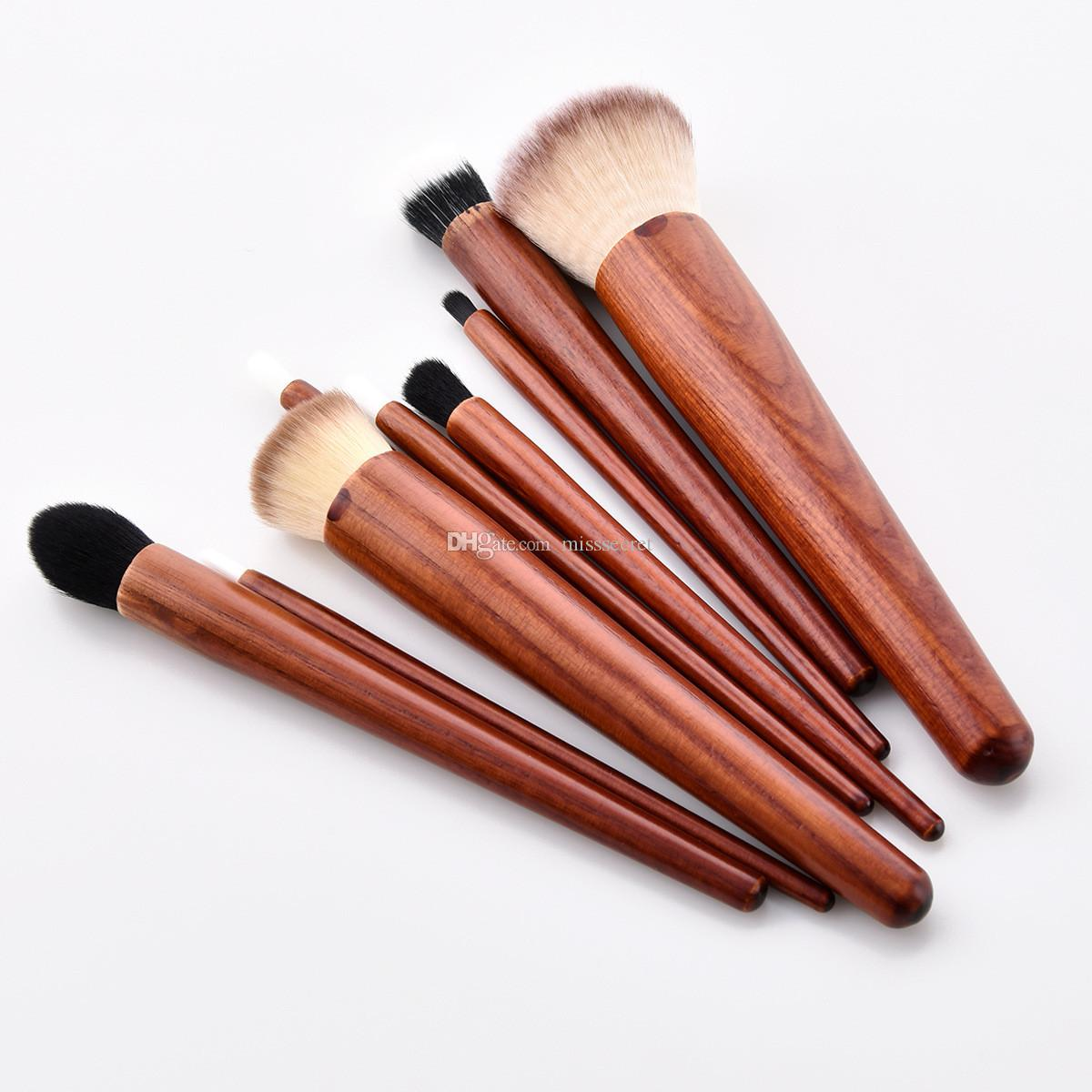 Cosmetic Makeup Brushes Set Wood Handle Foundation Power Eye Shadow Brow Concealer Blending Contour Beauty Brush Tools Kits