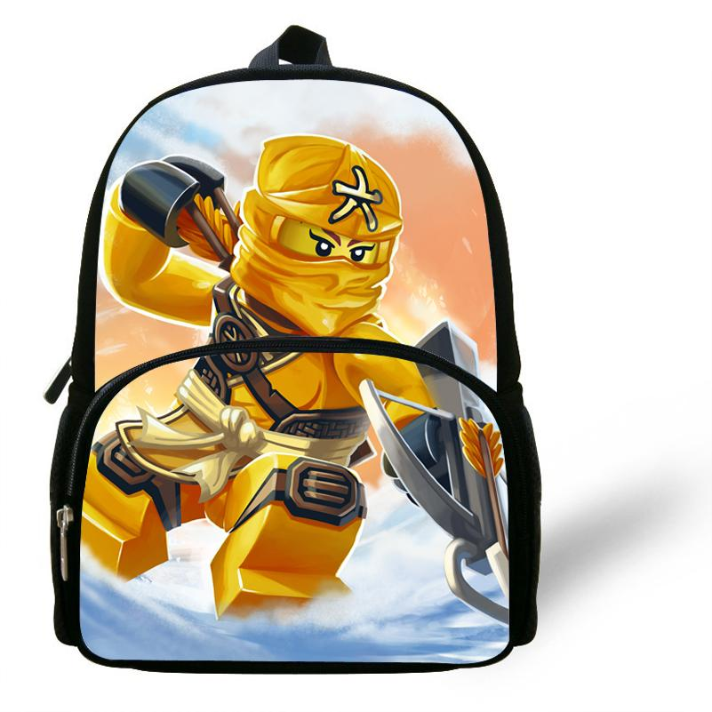 12inch Kids School Bag Child Cartoon Kung Fu Ninjago Backpack For Boys  Kindergarten Mochila Infantil Menino Y18100804 Backpacks At Lowest Price  Leather ... 41bf19c5ceed0