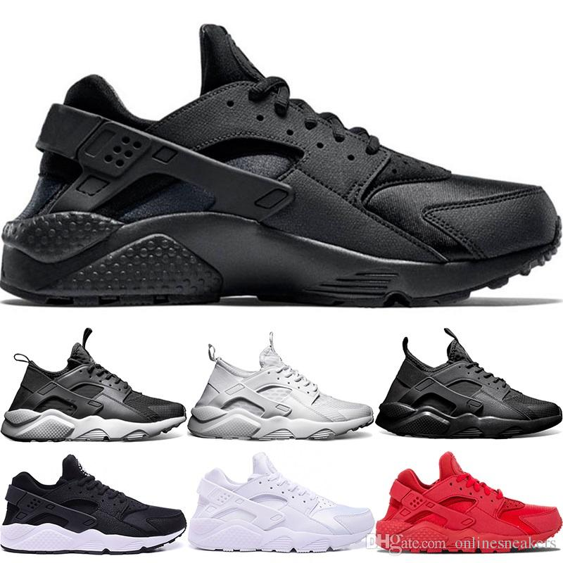 13a6e56807cc 2019 Huarache Ultra Running Shoes 4.0 1.0 Men Women Triple White Core Black  Red Cheap Huaraches Mens Athletic Sports Sneakers From Onlinesneakers