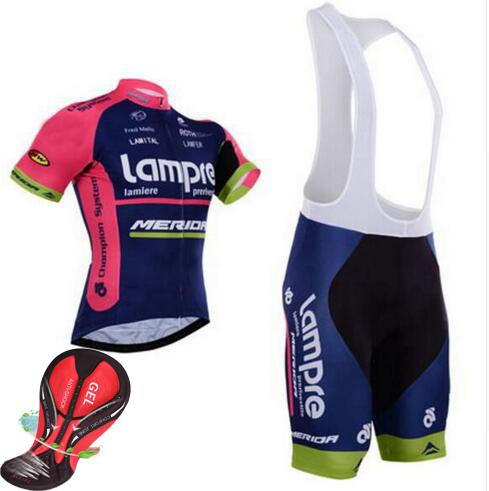 Cycling Jersey Sets Sport Ropa Maillot Ciclismo Clothes Jerseys Lampre  Merida Cycling Clothing Mtb Bike Bicycle Jersey Wear Quick Dry Jerseys  Jersey Lampre ... b2ab525c1
