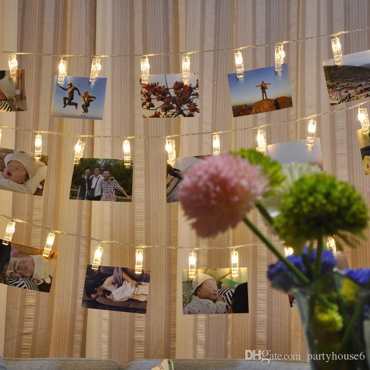 led photo clip lights 2018 new flash string lights star light photo wall layout battery photo clip wholesale