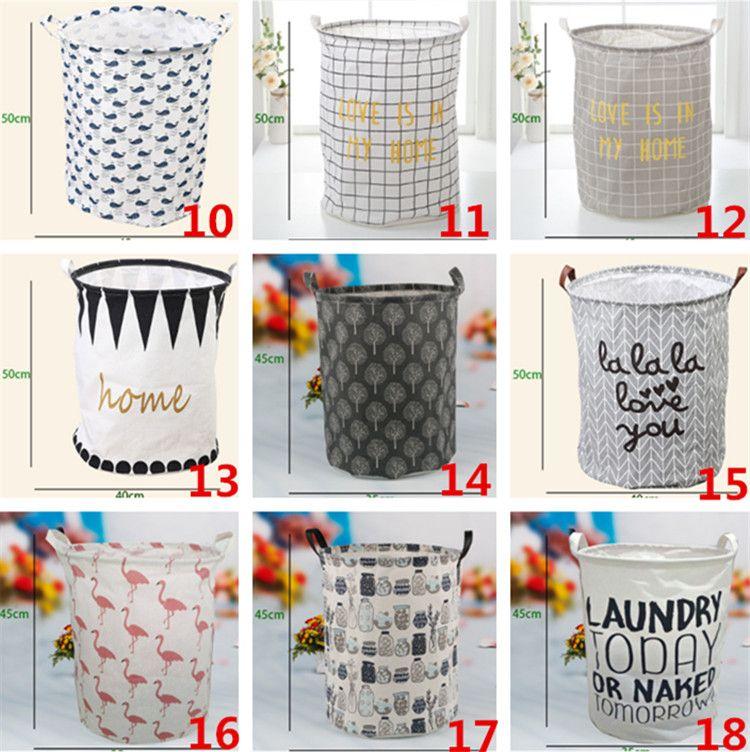 Storage Baskets INS Bins Kids Room Toys Storage Bags INS Storage Basket Bucket Clothing Organizer Laundry Bag Linen Cartoon IB754
