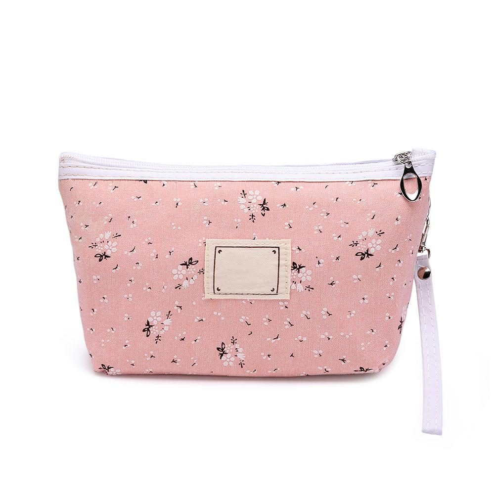 f64db1587f 2019 Cute Portable Sweet Floral Cosmetic Bag Travel Organizer Beauty Pouch  Toiletry Kit Mini Makeup WBags WML99 From Shoesbuddy