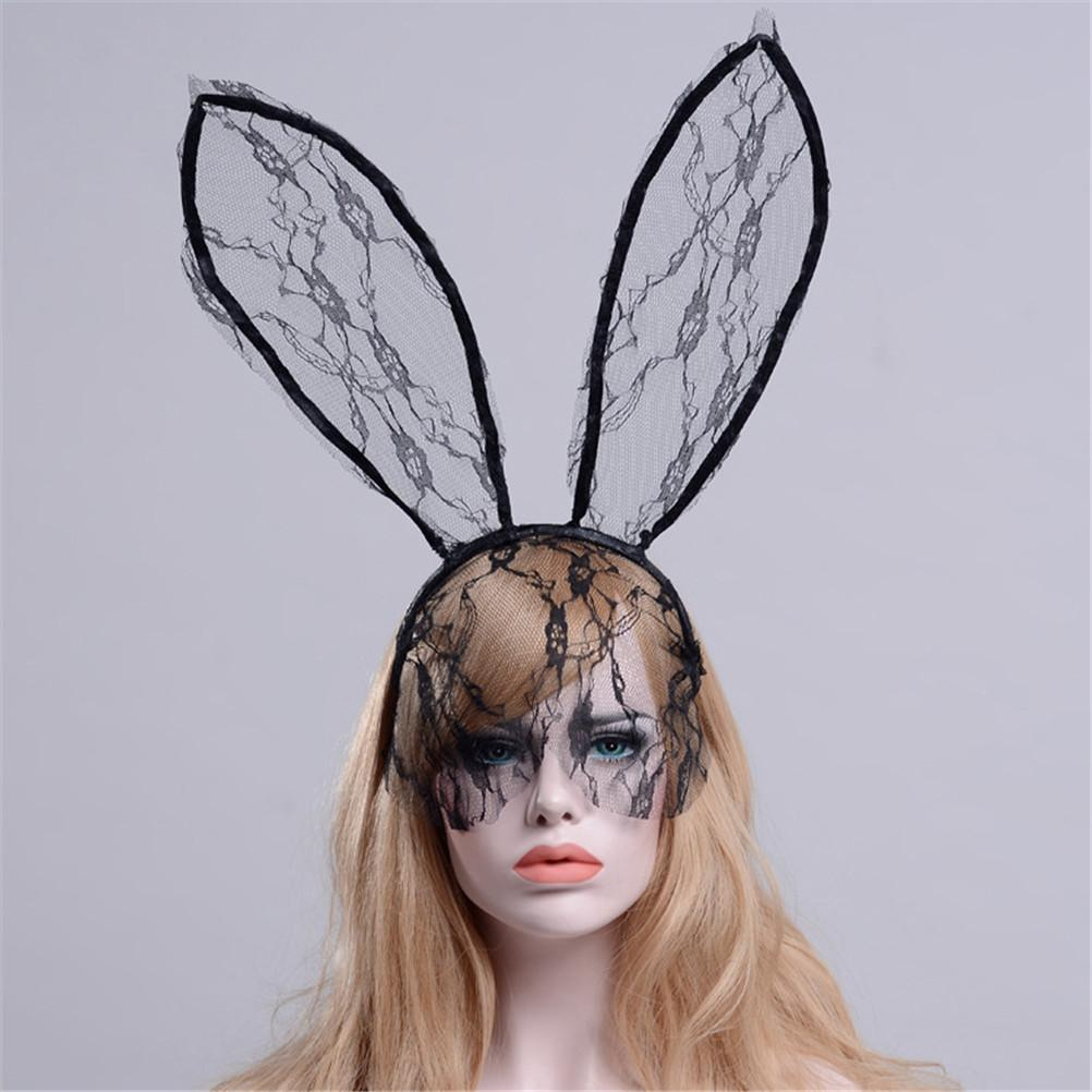 Black Lace Rabbit Bunny Ears Veil Eye Mask Party Head Wear Party Masks For  Girl Women Jewel Hair Accessories Fashion Hair Accessories From  Dangdangqiu, ...