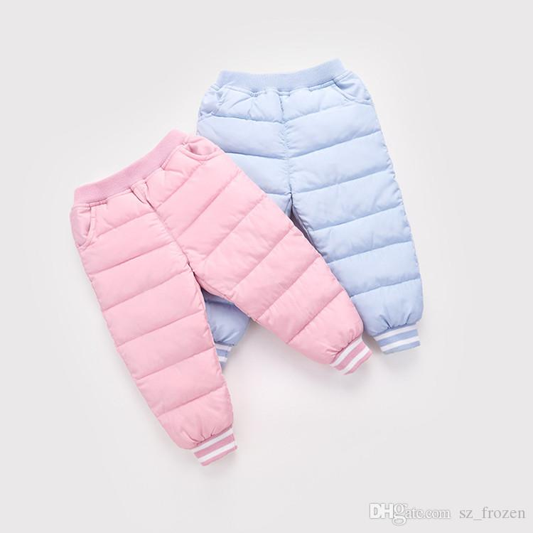 2018 New Boys Long Pants Children Trousers For Girls leggings Winter Thicken Warm Slim Clothes Down Baby Kids Autumn Clothing A-691