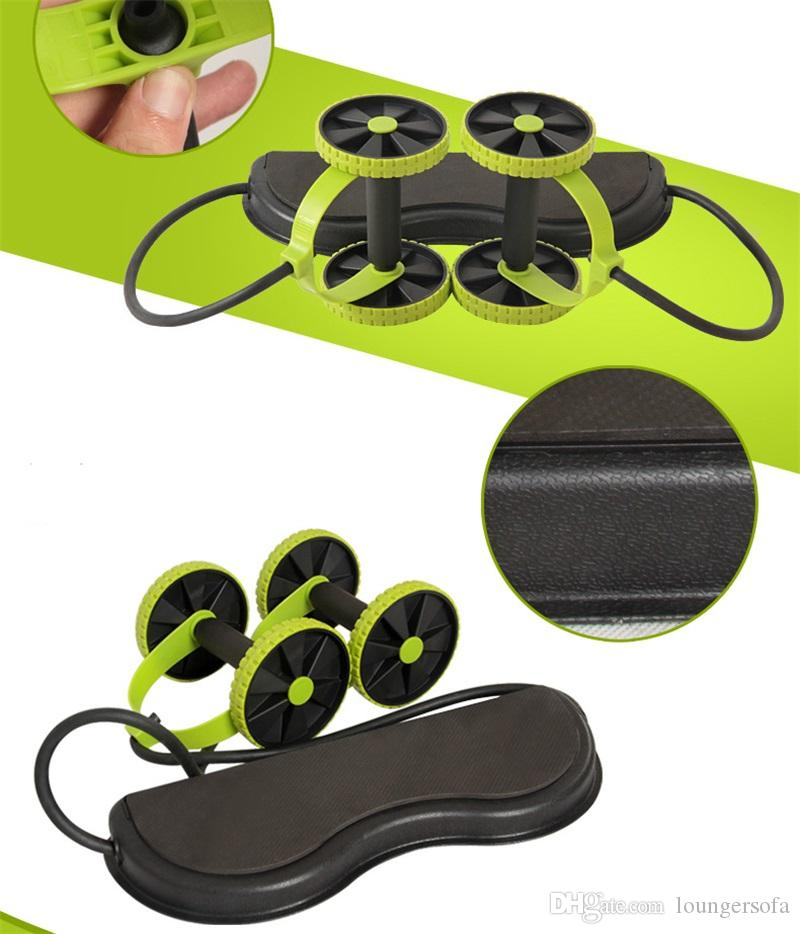 Resistance Bands Multifunction High Elastic Pull Spring Exerciser With Double Wheel Creative Physical Fitness Tube Hot Sale 20rh Z