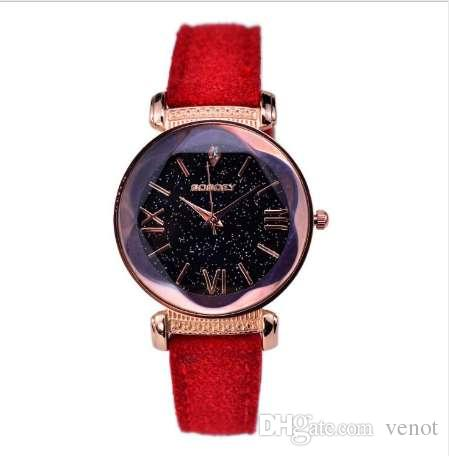 c943a390fdc0 Compre Nueva Moda De Gogoey Marca De Oro Rosa De Cuero Relojes Para Mujer  Vestido Casual Reloj De Pulsera De Cuarzo Reloj Mujer Go4417 A  4.57 Del  Venot ...