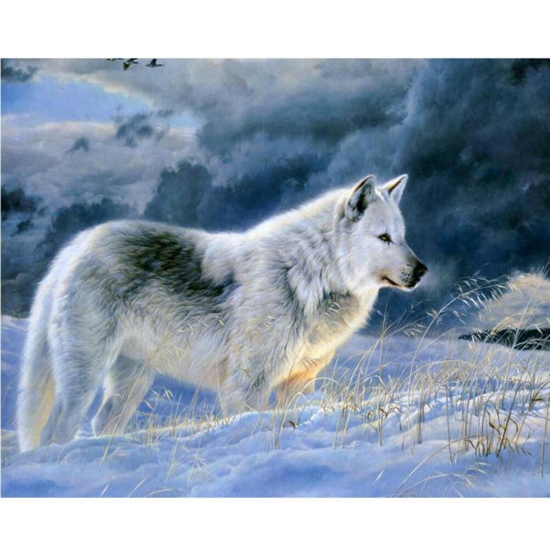 2018 0329zc0401 Home Wall Furniture Decorations Diy Number Painting  Children Graffiti Lonely Snow Wolf Painting By Numbers From Bright689,  $40.11 | Dhgate.