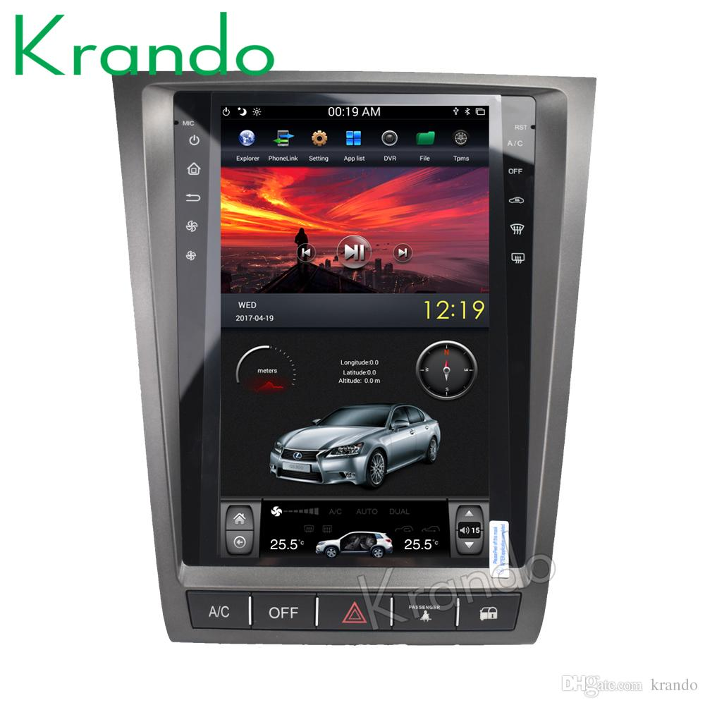 Krando Android 6 0 11 8 Vertical screen tesla style car dvd radio audio  player for Lexus GS gps navigation entertainment multmedia system