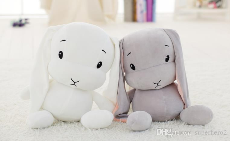 Cute Lucky Rabbit Dolls Plush Toys Soft Stuffed Animal Bunny Baby Kids Gift 25cm 50cm 70cm pink white grey
