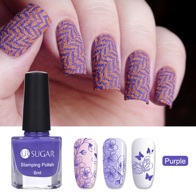 Wholesale 6ml Nail Stamping Polish Set Colorful Art Stamp Plate Printing Colors Varnish Lacquer Buy Shatter