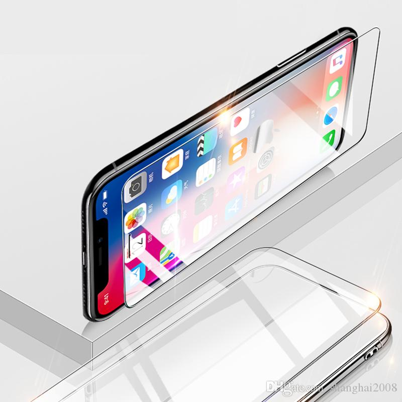 For 2019 New iPhone Xs Xr Xmas 3 size 5 8inch 6 1inch 6 5inch Tempered  glass screen protector with box Excat Size Date Fast Shipment